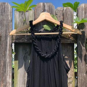 Zara braided neck maxi dress